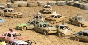 Demolition Derby @ Grand Stands, Trumbull County Fair